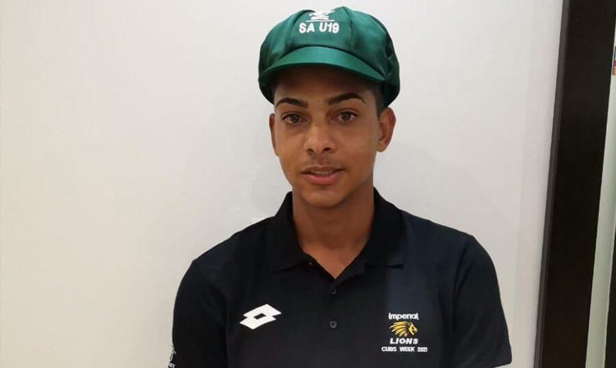 Michael Copeland, squad member of the SA U19 Team